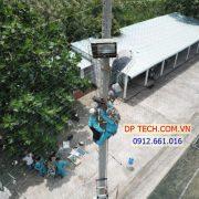 Lắp đặt đèn pha năng lượng mặt trời